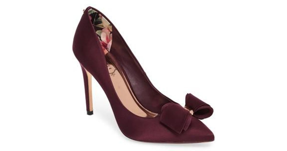 54c4c8dd6657a Lyst - Ted Baker Azeline Bow Pump in Purple