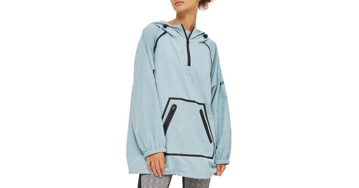 ivy park perforated pullover jacket in blue lyst. Black Bedroom Furniture Sets. Home Design Ideas