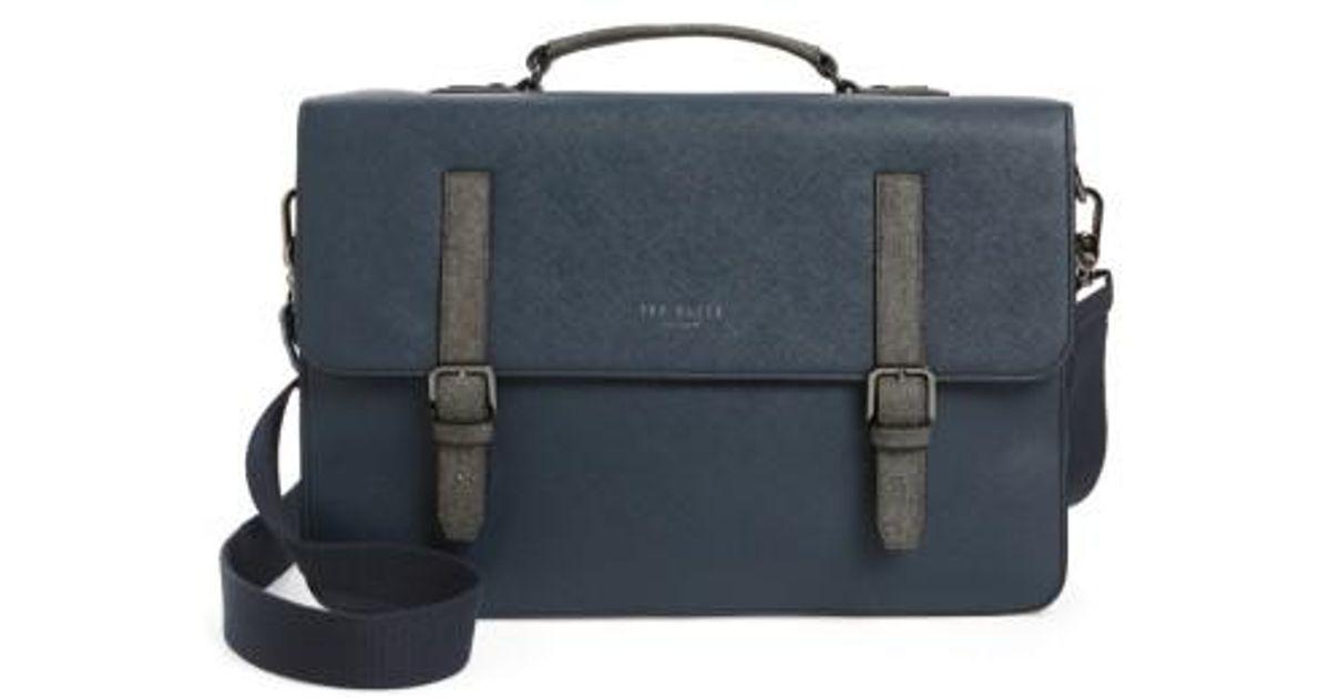 Lyst - Ted Baker Chase Messenger Bag - in Blue for Men a688681926af9