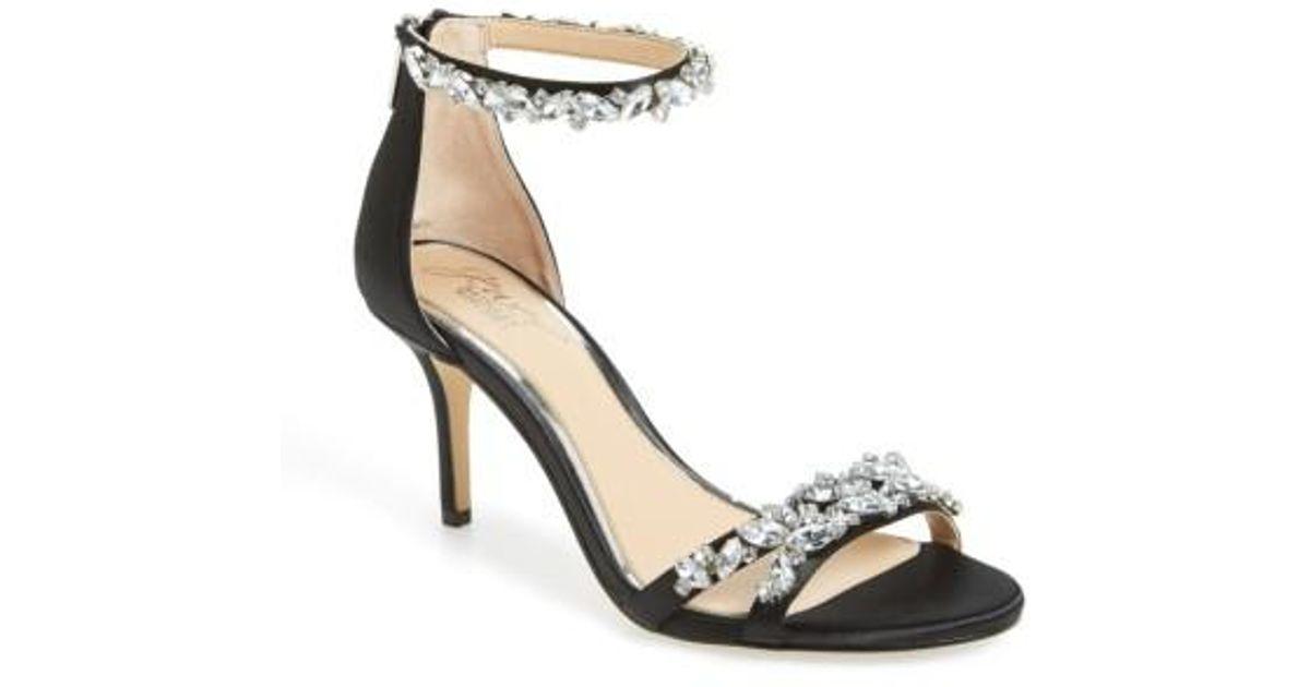 Badgley Mischka Caroline Embellished Ankle-Strap Evening Sandals Women's Shoes prVi0V