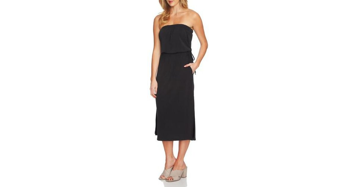 1.STATE Strapless Maxi Dress in Black - Lyst