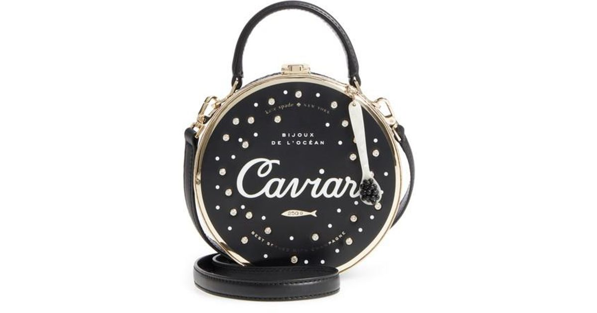 d27fc62c3f77 Kate Spade Finer Things Caviar Frame Bag - Lyst