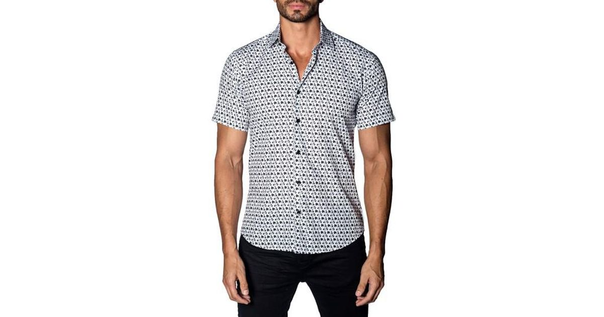 Jared Lang Trim Fit Scooter Print Sport Shirt