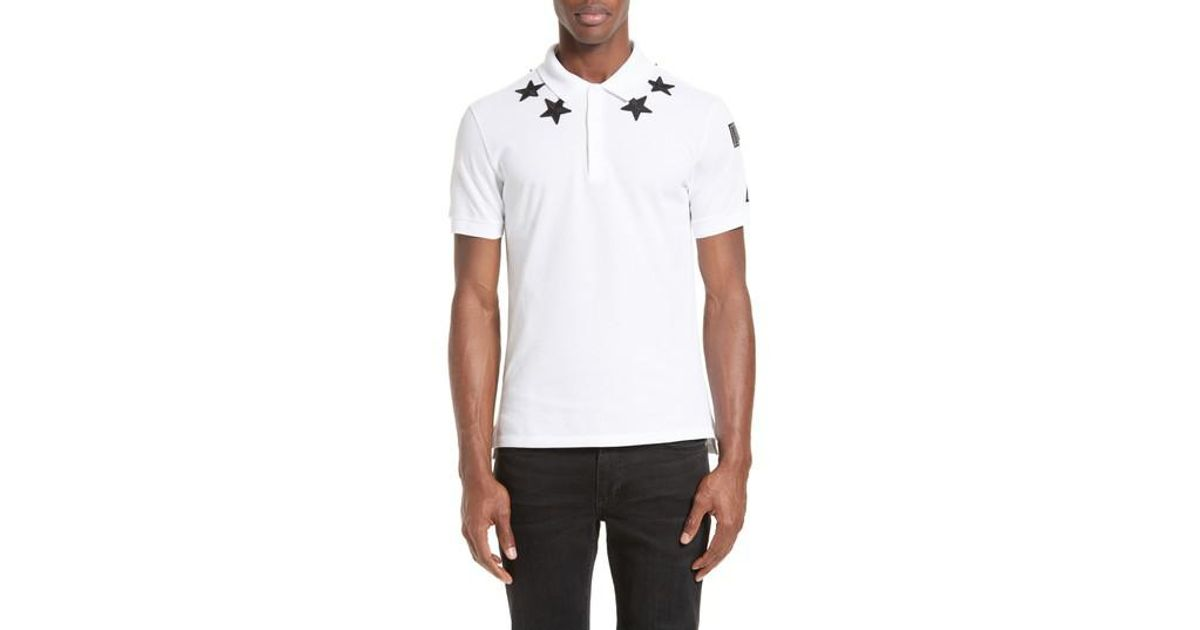 6caacc62 Givenchy Star 74 Cuban Fit Polo in White for Men - Lyst