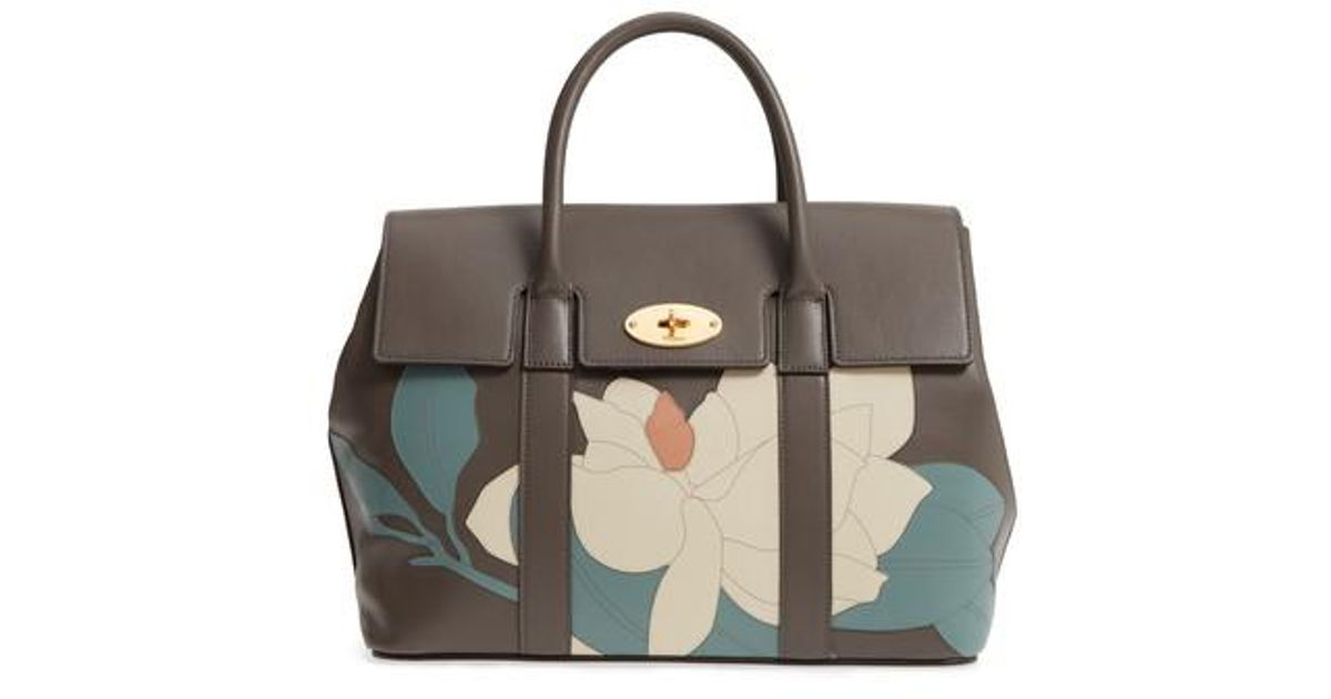 ... uk lyst mulberry bayswater magnolia leather satchel in blue 2ee76 127f3 b2eb011433588