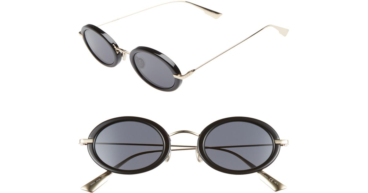 543521eb3c3e Lyst - Dior Christian Hypnotic2 46mm Round Sunglasses - Blk Gold/grey  Antireflect Lens in Gray