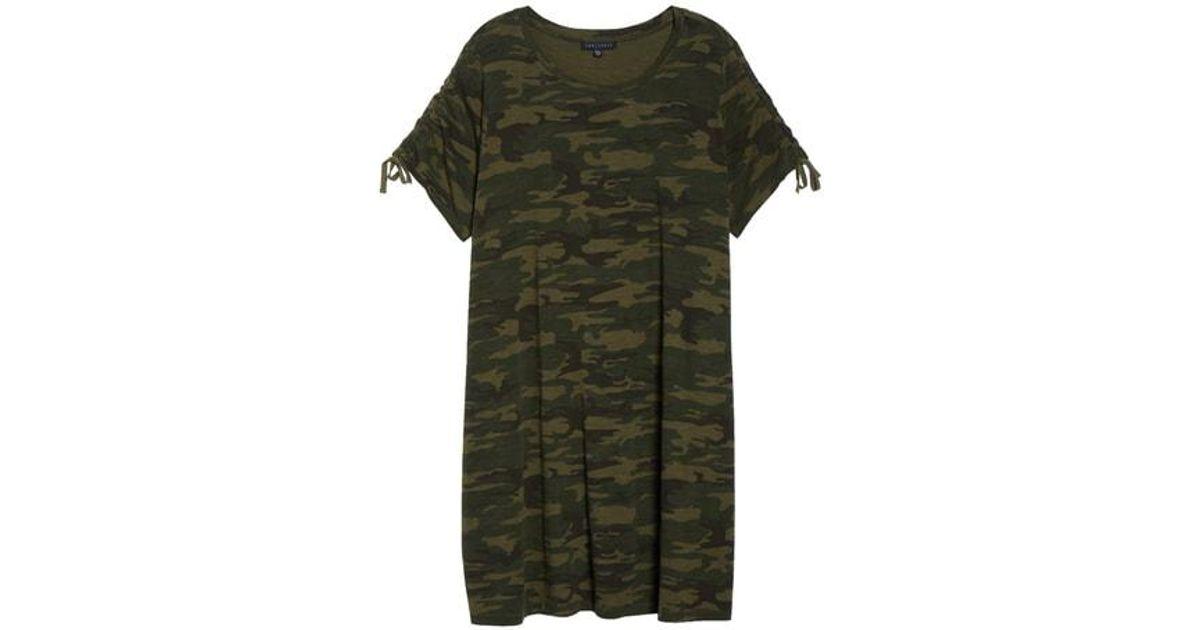 c14ea9fe484 Lyst - Sanctuary Ojai Camo T-shirt Dress in Green
