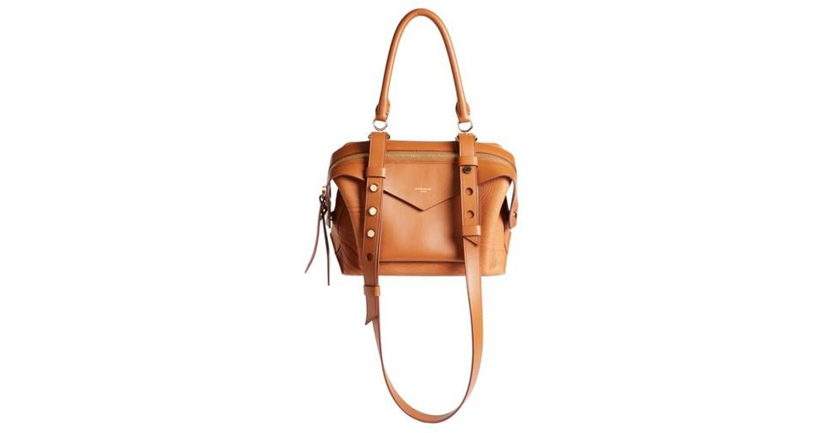1aa9678c0c34 Lyst - Givenchy Small Sway Leather Satchel in Brown