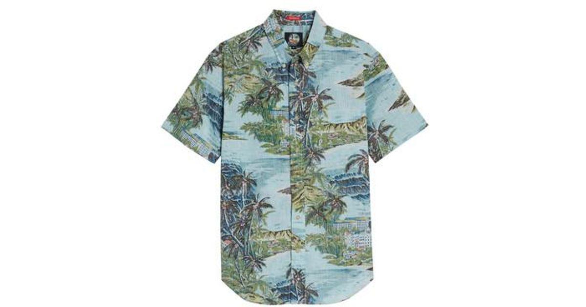 38300b6dfc04 Lyst - Reyn Spooner Diamond Head Classic Fit Print Sport Shirt in Blue for  Men