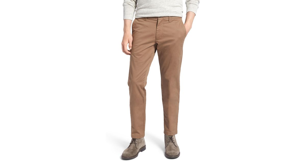8a46273c54 Lyst - Nordstrom 1901 Ballard Slim Fit Stretch Chino Pants in Brown for Men