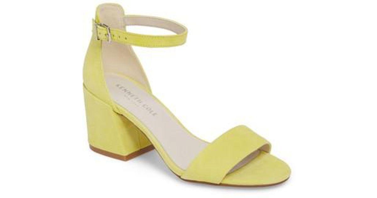 3eb9e2a2284f3 Lyst - Kenneth Cole Hannon Block Heel Ankle Strap Sandal