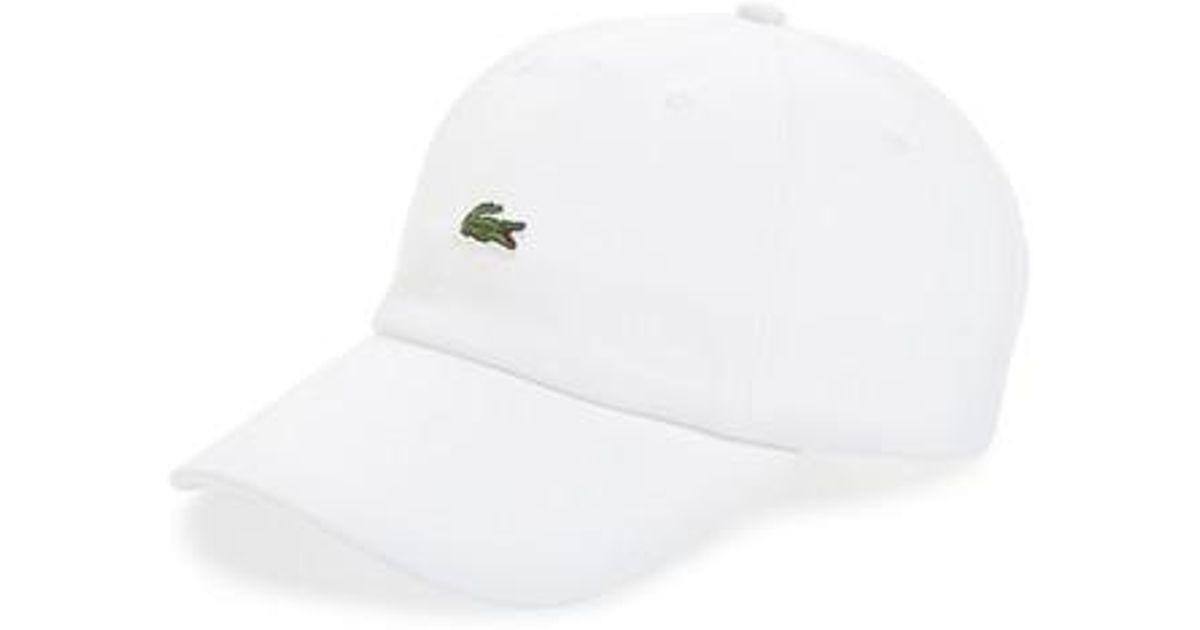 Baseball Cap In White - White Lacoste 43klhF