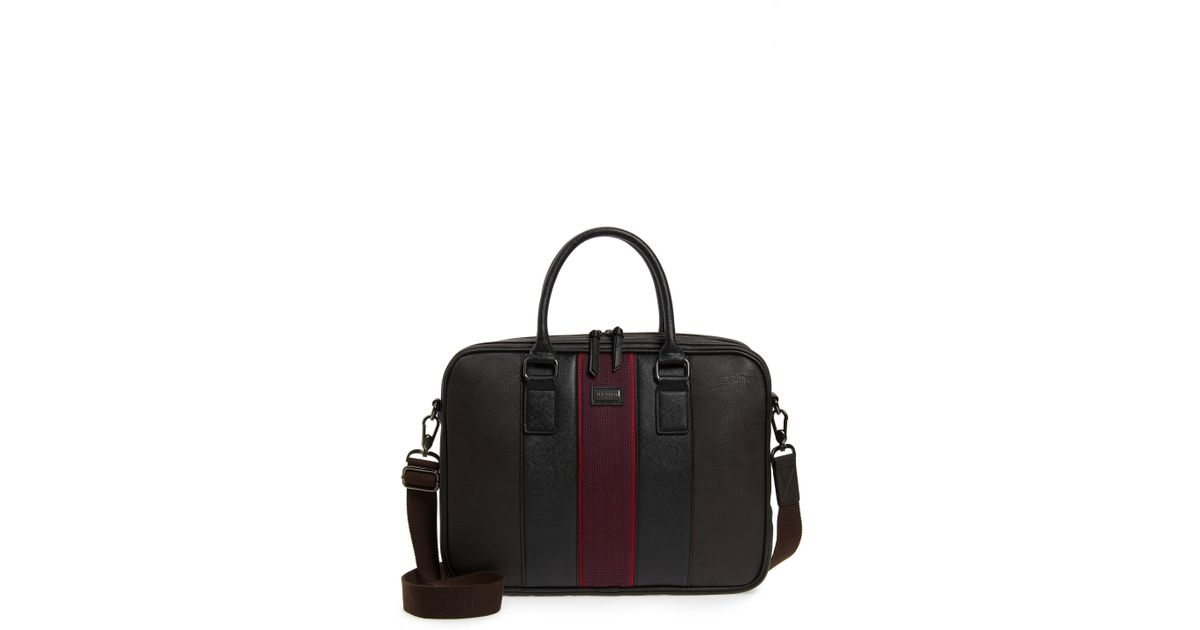 4644437b53b8d Lyst - Ted Baker Merman Faux Leather Briefcase in Brown for Men