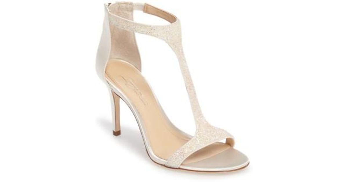 623709fef95b Lyst - Imagine Vince Camuto  phoebe  Embellished T-strap Sandal