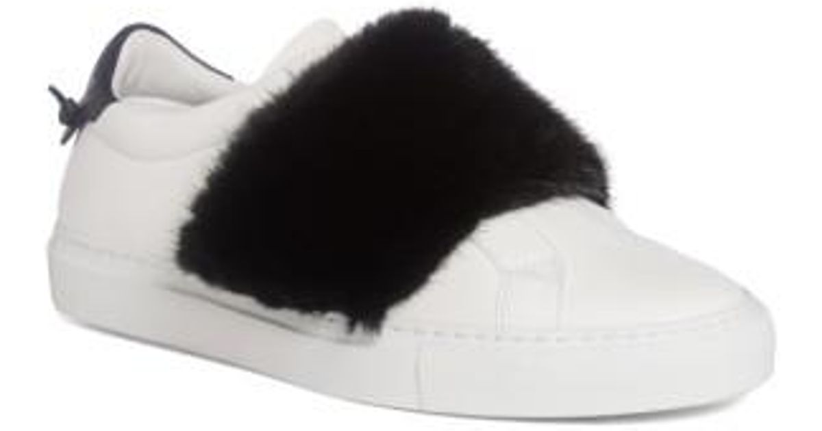 b6a29592737e Lyst - Givenchy Urban Street Slip-on Sneaker With Genuine Mink Fur Trim in Black  for Men