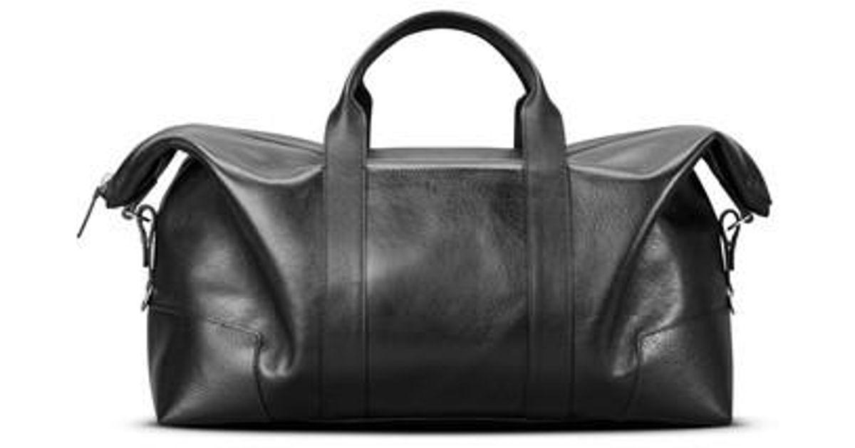 21a7ba4cf75f Lyst - Shinola Signature Leather Duffel Bag in Black