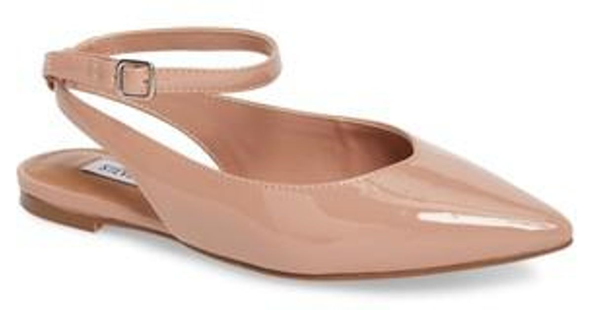 0ce84ca8478db Steve Madden Cupid Ankle Strap Flat in Pink - Lyst