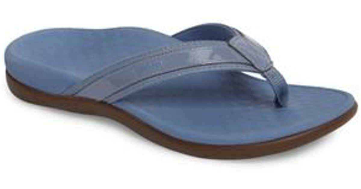 2ab9b6b2f68f Lyst - Vionic Tide Ii Flip Flop in Blue