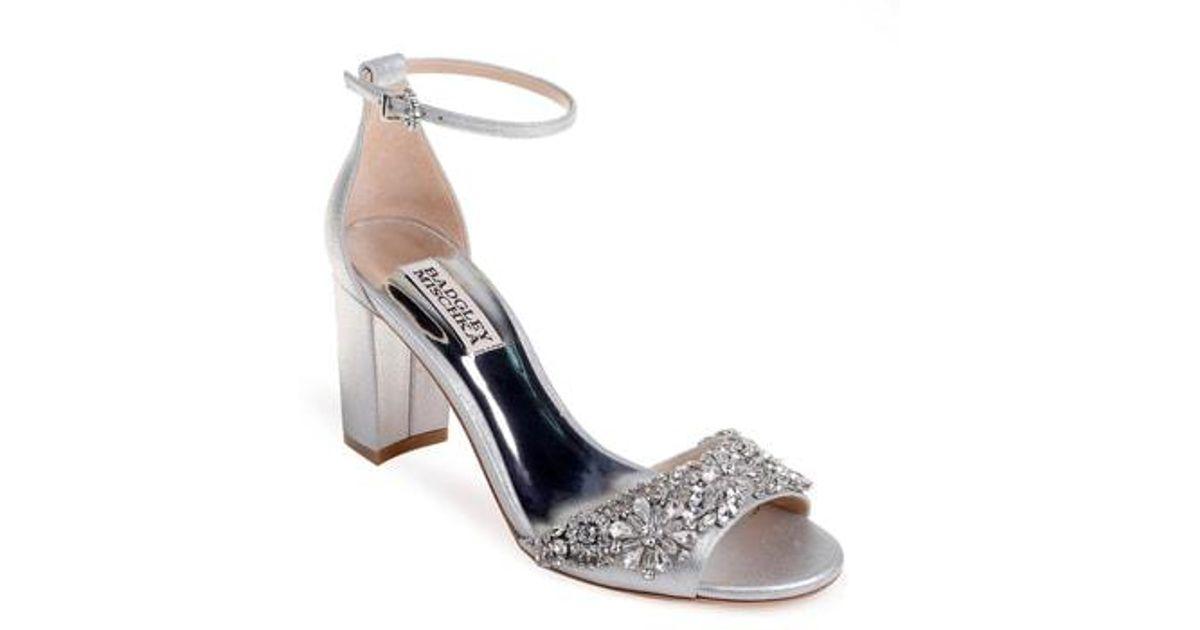 36c8251ea5f Lyst - Badgley Mischka Badgley Mischka Hines Embellished Block Heel Sandal