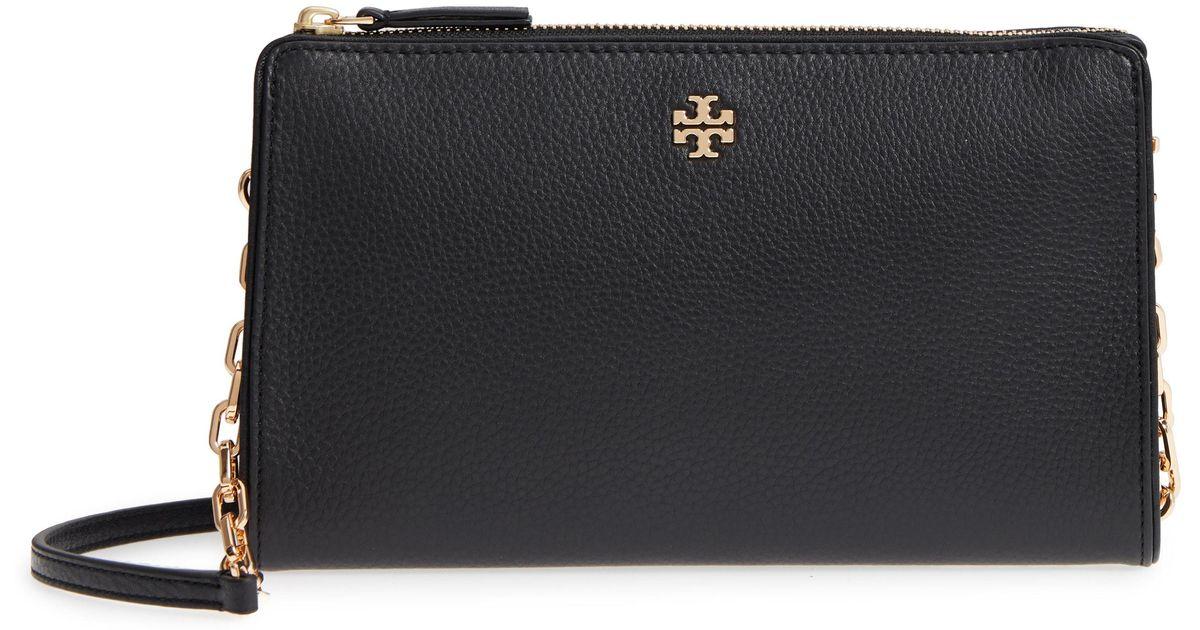 0707e7507fa Lyst - Tory Burch Marsden Leather Wallet Crossbody Bag -