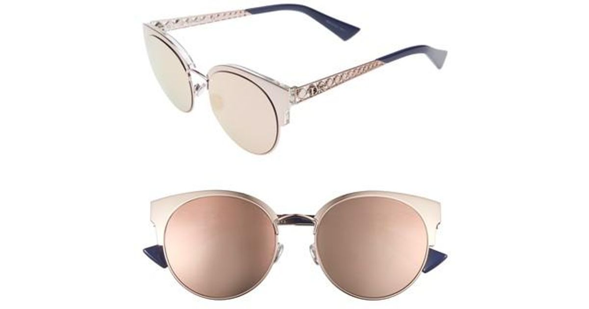 fe71760188 Lyst - Dior Dior Diorama Mini 54mm Mirrored Lens Cat Eye Sunglasses - Light  Pink in Pink