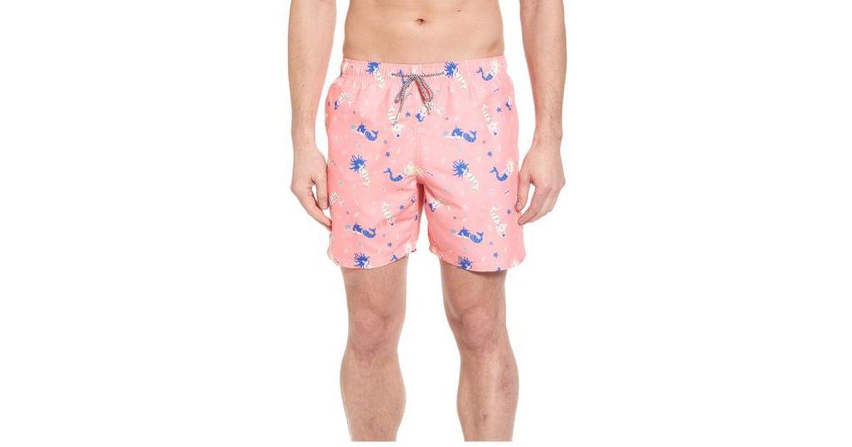 8c3c76c965 Boardies Mermaid Print Swim Trunks in Pink for Men - Lyst