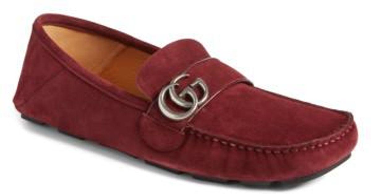 85e916564c4 Lyst - Gucci Noel Driving Convertible Heel Shoe in Red for Men