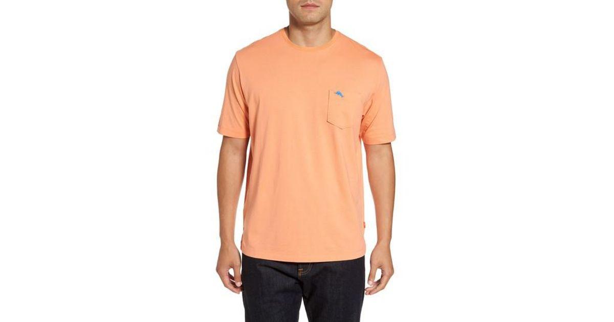Tommy Bahama Bali Skyline Pocket T Shirt In Orange For Men