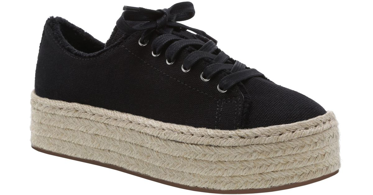 5600aa1bec0f Lyst - Schutz Women s Luana Espadrille Lace-up Sneakers in Black - Save 1%