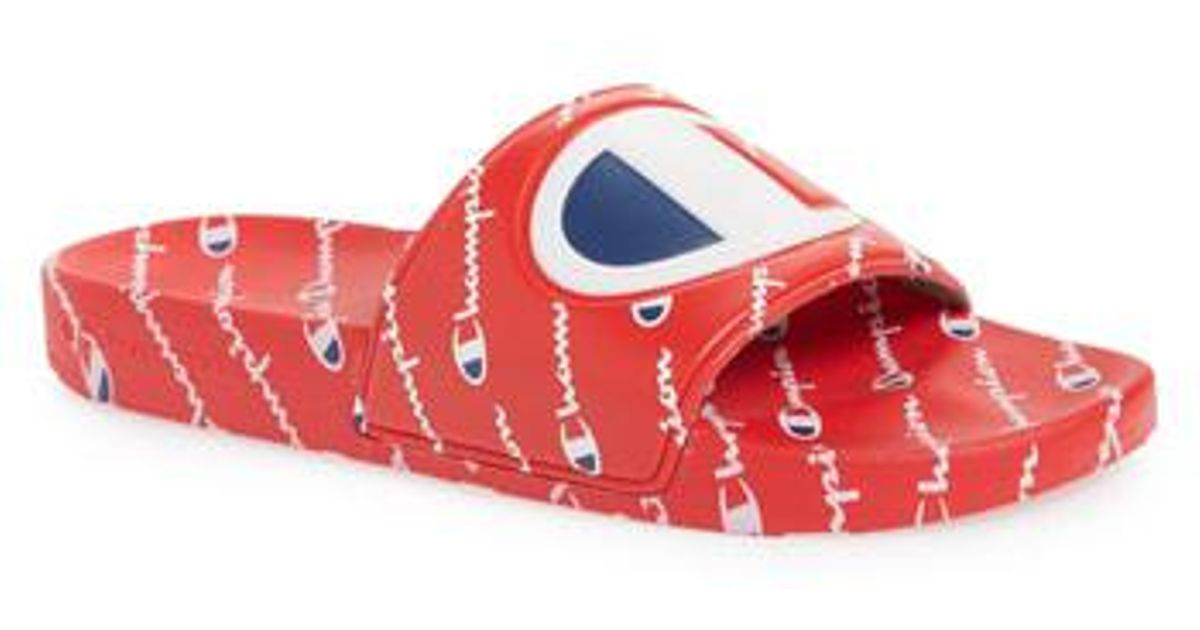 fd06c750967cec Lyst - Champion Ipo Repeat Sports Slide in Red for Men