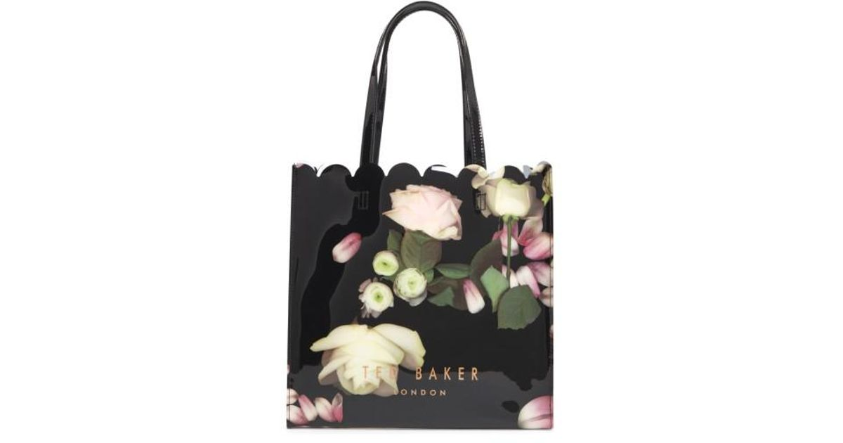 5efeb8ab6 Lyst - Ted Baker Large Coracon Kensington Floral Tote in Black