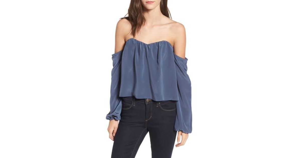 27c918d0f3acc Lyst - Stone Cold Fox Anita Off-the-shoulder Top in Blue
