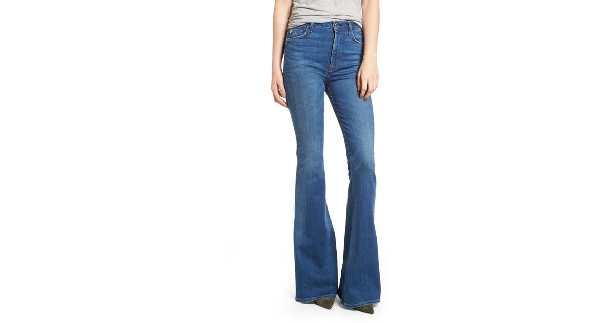 ae4d5f4a78a Hudson Jeans Holly High Waist Flare Jeans in Blue - Lyst