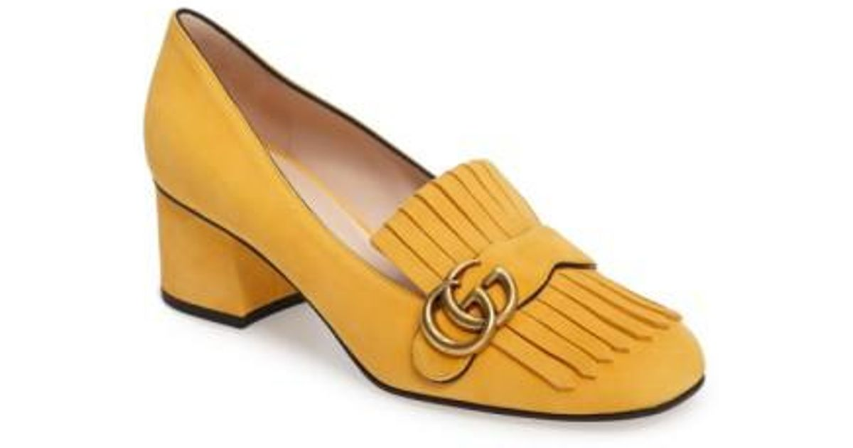 f4a31f4df Gucci Marmont Leather Pumps - Lyst
