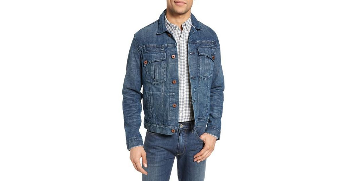 bd59b77020 Lyst - Billy Reid Clayton Distressed Selvedge Denim Jacket in Blue for Men