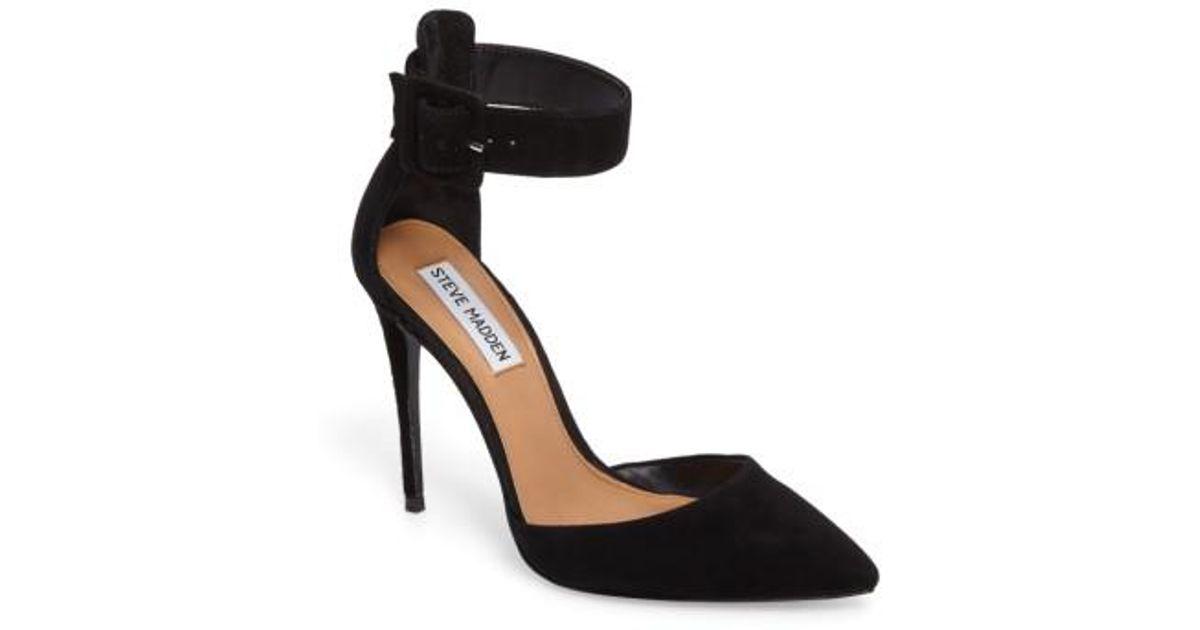 3157e2b444b Lyst - Steve Madden Desire Ankle Strap Pump in Black