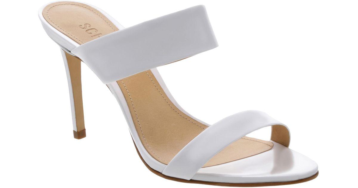 bd59b915722 Schutz - White Stiletto Slide Sandal - Lyst