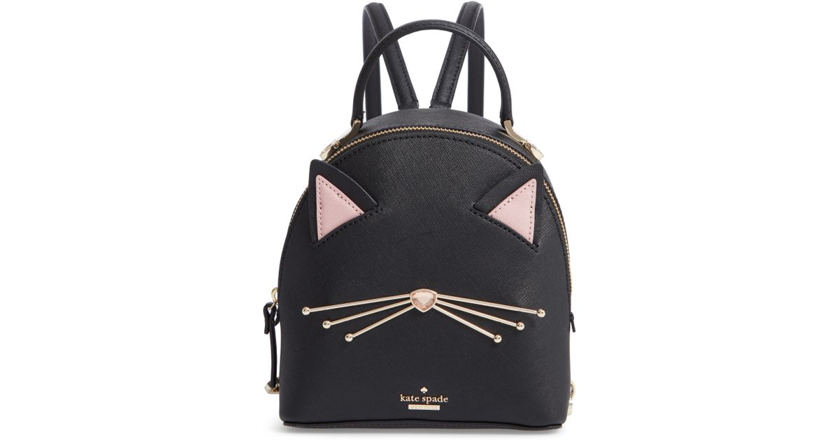 d6b9c193ad7f Lyst - Kate Spade Cats Meow - Binx Leather Backpack - in Black