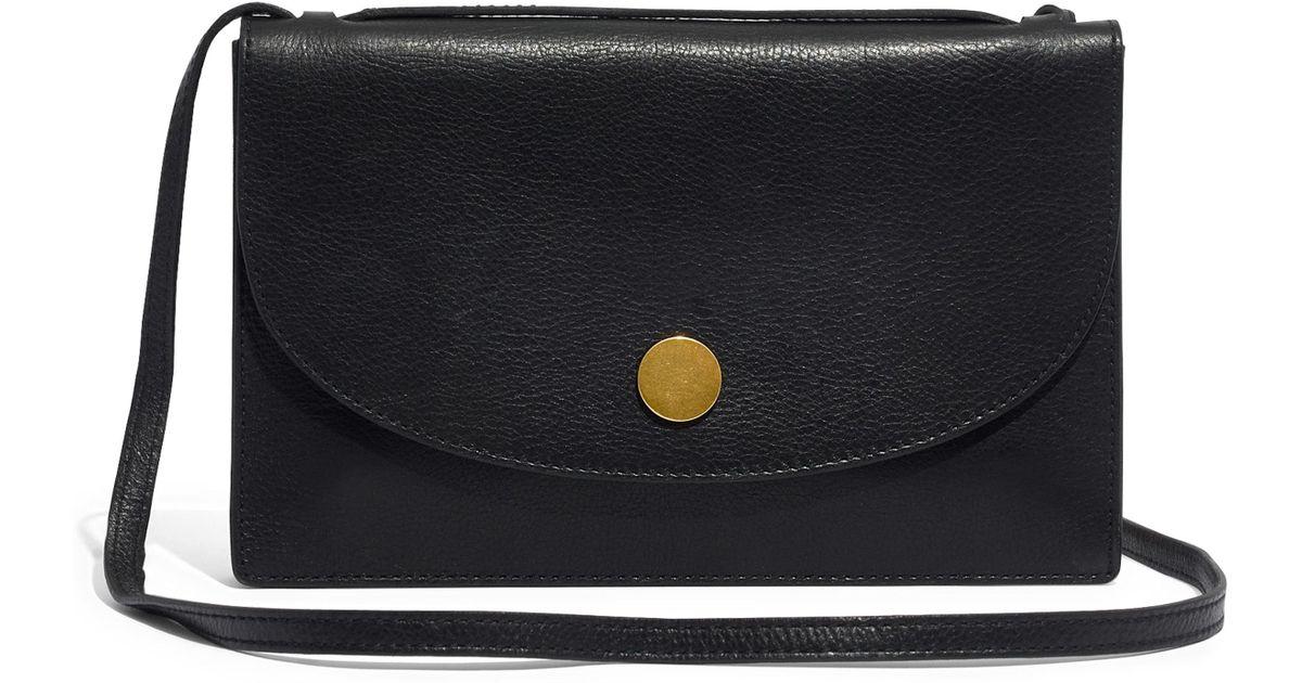 c000af04f075 Lyst - Madewell The Slim Convertible Leather Shoulder Bag in Black