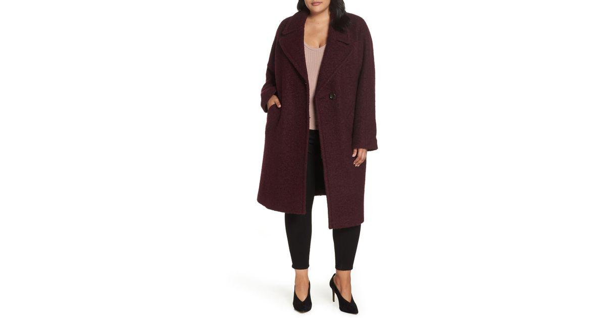 343f6bd4320 Lyst - RACHEL Rachel Roy Oversized Boiled Wool Coat in Red