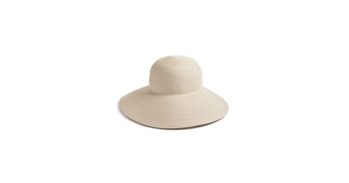 807787598d968 Lyst - Eric Javits  hampton  Straw Sun Hat in White