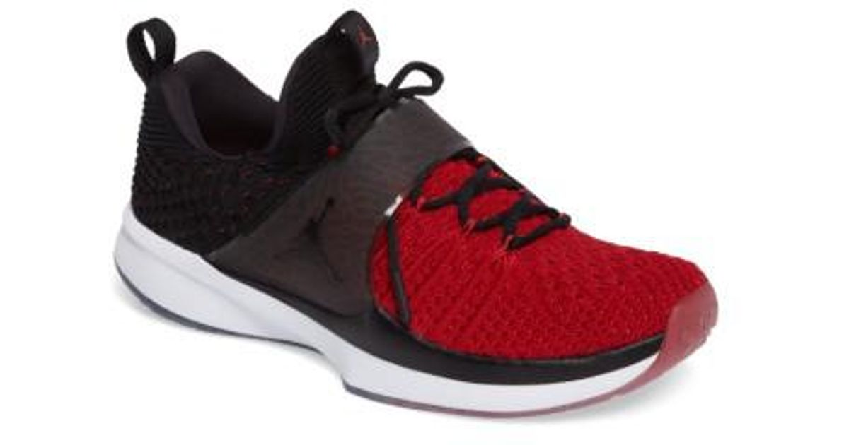 Lyst - Nike Jordan Flyknit Trainer 2 Low Sneaker in Black for Men 8f501b561