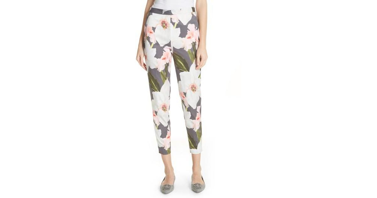 b52dc99e9dbad Lyst - Ted Baker Chatsworth Tapered Trousers in Gray