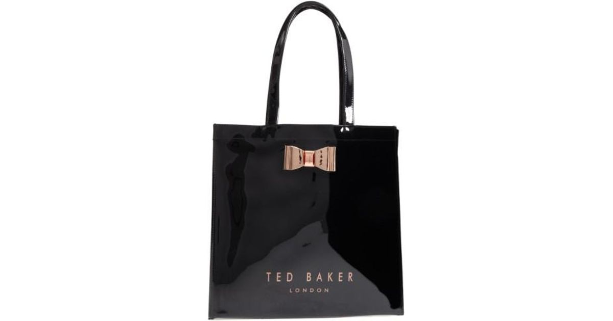 e5af0601a3a Ted Baker Mandcon - Large Icon Pvc Tote in Black - Lyst