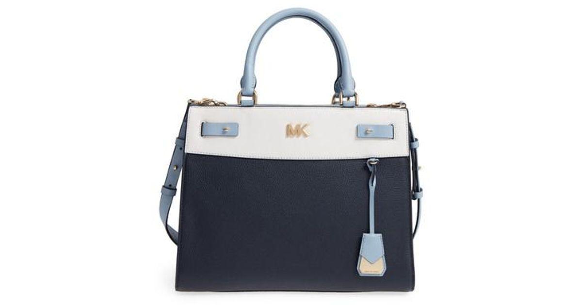 e0e5bf68e8bd official store mk leather satchel f3c7d 493c8