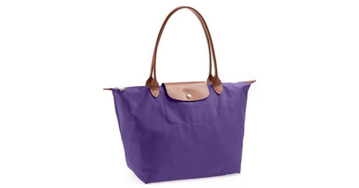 aa1baa18fc7 Lyst - Longchamp  large Le Pliage  Tote - Purple in Purple