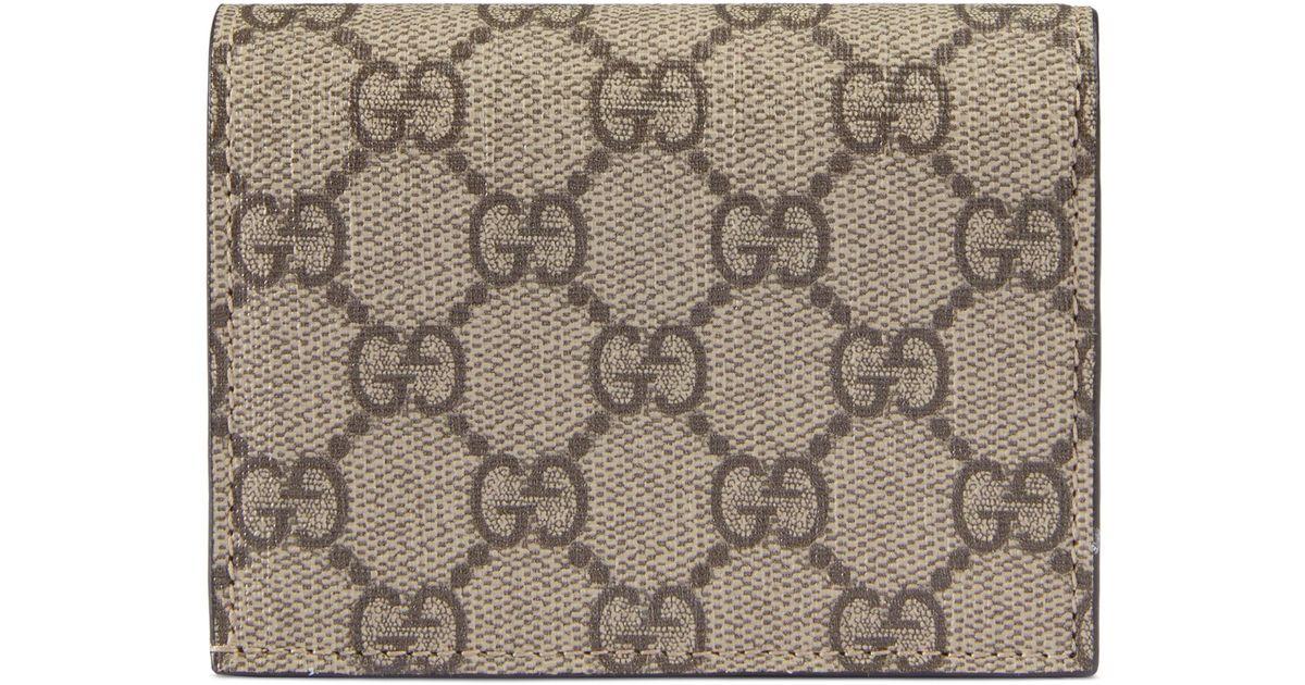 a0f01e275 Lyst - Gucci Linea Gg Supreme Canvas Card Case in Natural