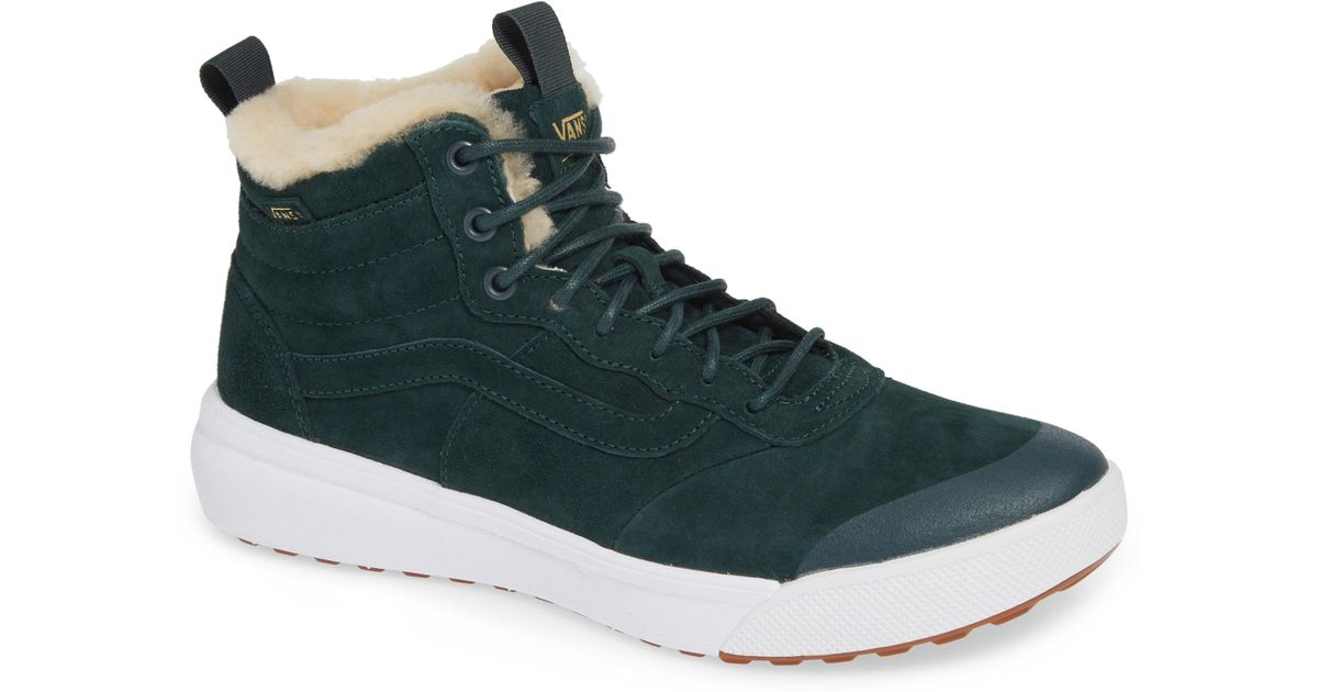 86de080bf8 Lyst - Vans Nyc Ultrarange Hi Sneaker in Green for Men