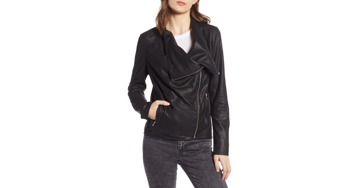 833727c02 Lamarque - Black Waterfall Leather Jacket - Lyst
