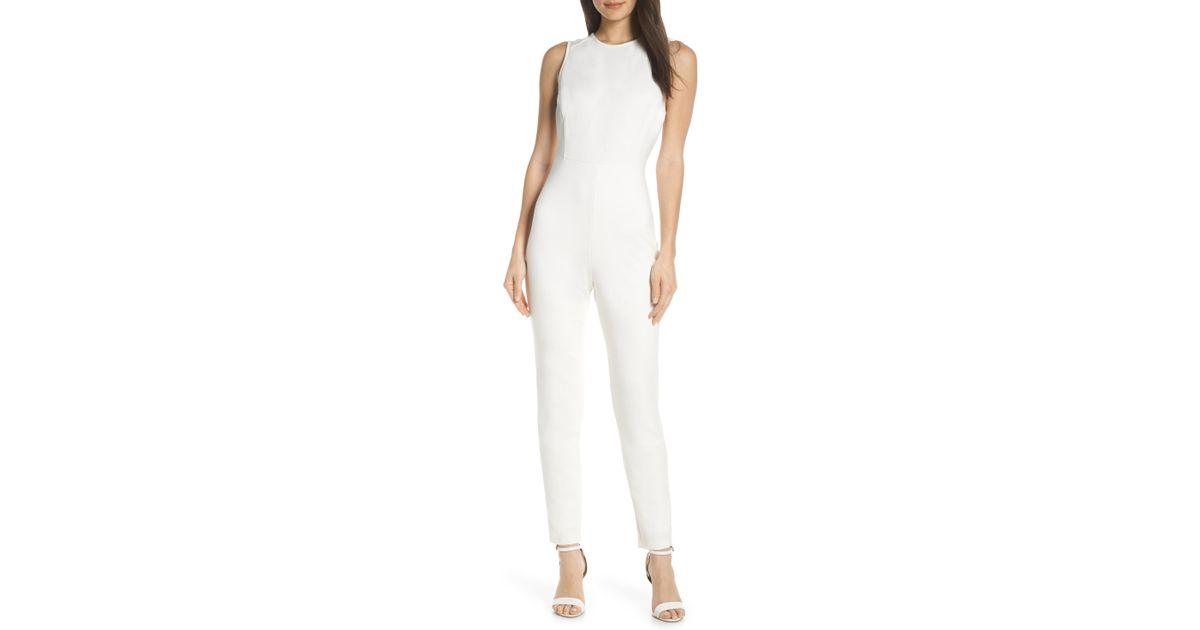 01610333c15 Lyst - French Connection Sundae Lula Sleeveless Jumpsuit in White